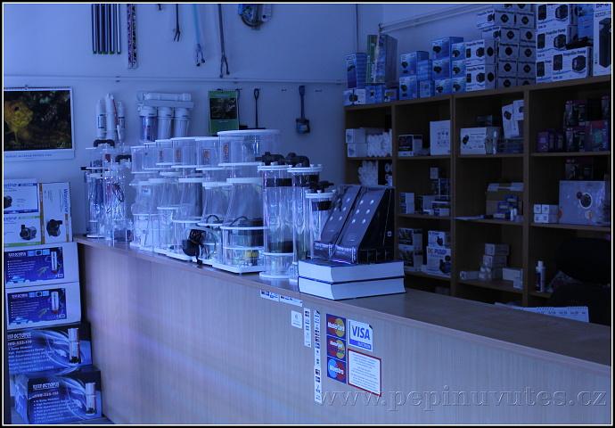 Velký sortiment zboží pro mořská akvária