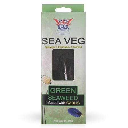 Sea Veg Seaweed Green zelená řasa s česnekem 21 g