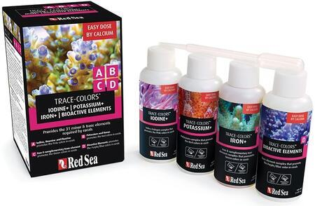 Red Sea Trace-Colors A,B,C,D 100ml 4-Pack