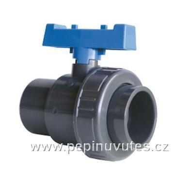 PVC-U kulový ventil 32 mm 1 x šroubení