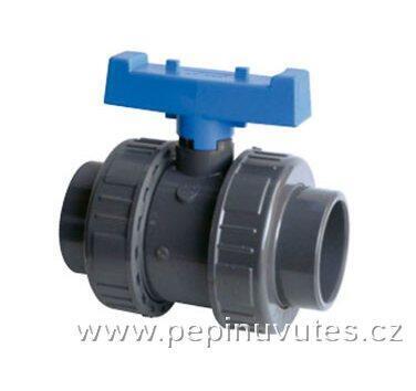 PVC-U kulový ventil 40 mm 2 x šroubení