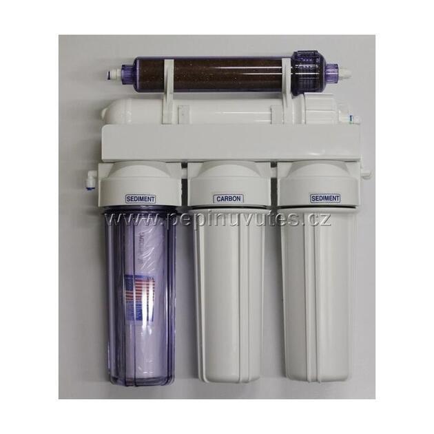 Reverzní osmoza 100 GPD PRO RO/DI filtr a oplachový ventil - 1