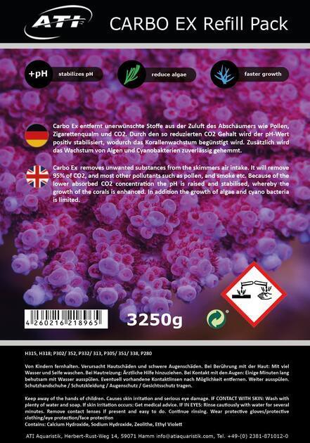 ATI- Carbo Ex Refill Pack. 3250 g Granulát 4 litry - 2