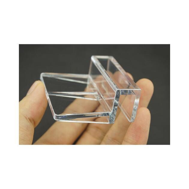 Akrylátový držák krycího skla nebo síťky 10 mm - 2