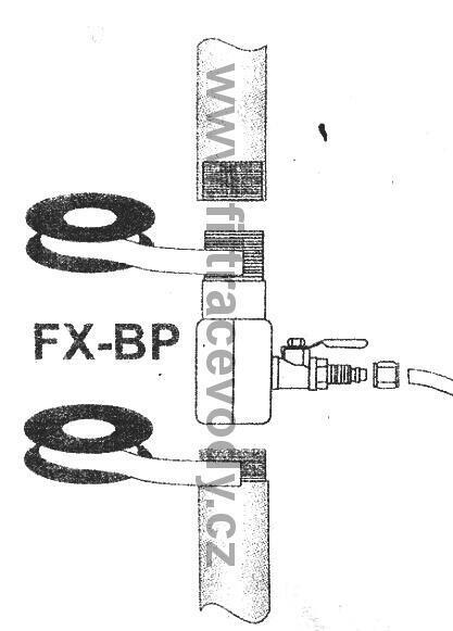 """Připojovací fitink 3/8"""" vnější x 1/4"""" boční x 3/8"""" vnitřní - 3"""