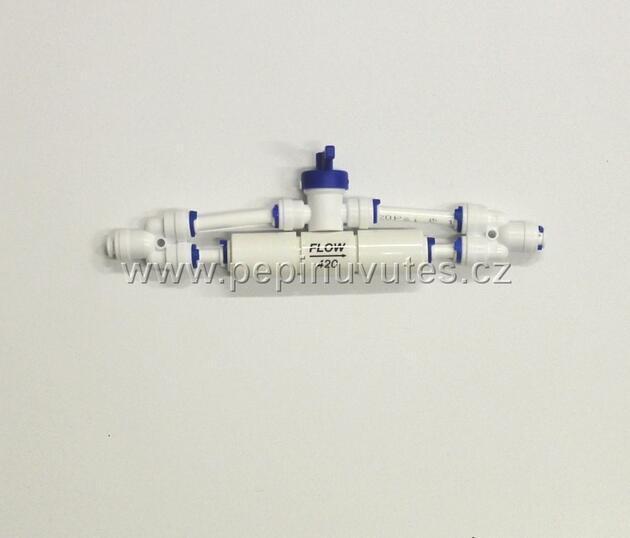 Reverzní osmoza 75 GPD PRO RO/DI filtr a oplachový ventil - 4