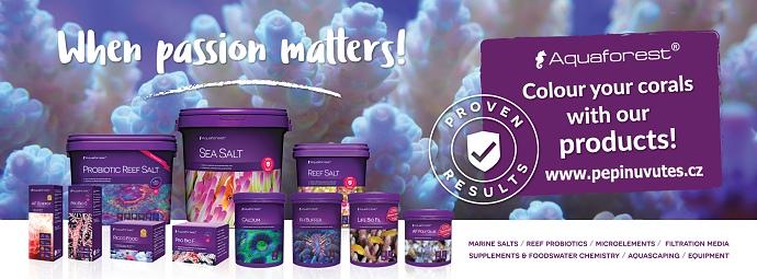 Přípravky Aquaforest pro vaše mořské akvárium